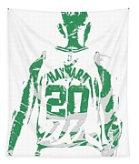 Gordon Hayward Boston Celtics Pixel Art T Shirt 5 Tapestry