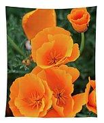 Gorgeous Orange California Poppies Tapestry