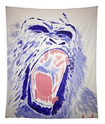 Gorilla Roars Tapestry