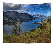 Goat Haunt Pine Tree Panorama Tapestry