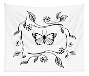 Graceful Butterfly Baby Room Decor Iv Tapestry