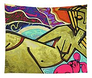 Grafitti Curves Tapestry