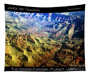 Grand Canyon Aerial View Tapestry