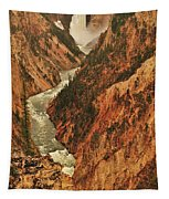 Grand Canyon Of The Yellowstone Vertical Panorama Tapestry