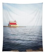 Grand Haven Lighthouse From North Pier Tapestry