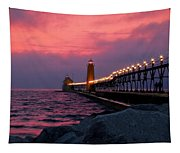 Grand Haven Sunset Tapestry