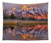 Grand Teton Snake River Sunrise Reflections Tapestry