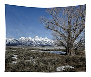 Grand Tetons From Gros Ventre Tapestry