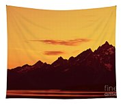 Grand Tetons Sunset Tapestry