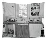 Grandma's Kitchen B W Tapestry