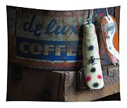 Old Fishing Lure Tapestry