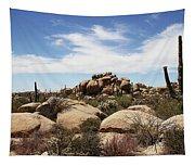 Granite Boulders And Saguaros  Tapestry