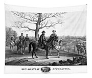 Grant And Lee At Appomattox Tapestry