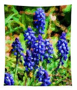 Grape Hyacinths  Tapestry