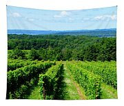 Grapevines On Old Mission Peninsula - Traverse City Michigan Tapestry