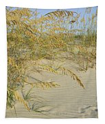 Grass On The Beach Sand Tapestry
