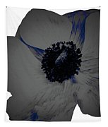 Gray Blue Poppy Tapestry