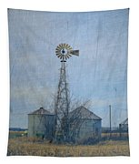 Gray Windmill 2 Tapestry