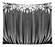 Grayscale Swollen Icicles Tapestry