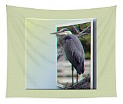 Great Blue Heron - Red-cyan 3d Glasses Required Tapestry