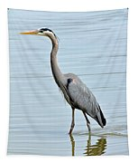 Great Blue Heron In River Tapestry