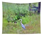 Great Blue Heron Visitor Tapestry