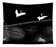 Great Egret Montage Tapestry