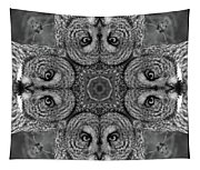 Great Gray Owl Stare Down Tapestry