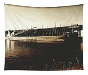 Great Lakes Iron Ore Freighter Tapestry