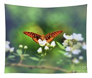 Great Spangled Fritillary Looking At Me Tapestry