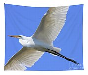 Great White Egret In Flight . 40d6850 Tapestry
