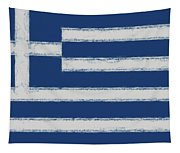 Greek Flag Smudged Tapestry
