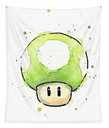 Green 1up Mushroom Tapestry