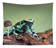 Green And Black Poison Dart Frog Tapestry