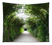 Green Arbor Of Mirabell Garden Tapestry
