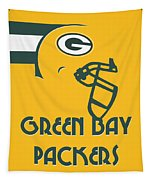 Green Bay Packers Team Vintage Art Tapestry