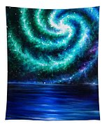 Green-blue Galaxy And Ocean. Planet Dzekhtsaghee Tapestry