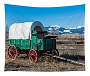 Green Covered Wagon Tapestry