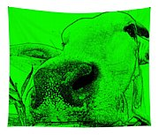 Green Cow Tapestry