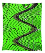 Green Grass Behind The Fence Tapestry