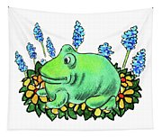 Green Happy Frog Tapestry