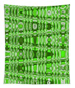 Green Heavy Screen Abstract Tapestry