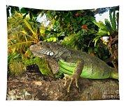 Green Iguana Tapestry