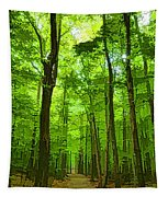 Green Light Harmony - Walking Through The Summer Forest Tapestry