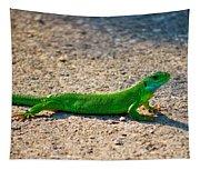 Green Lizard Tapestry
