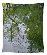 Green Peace - Trees Reflection Tapestry