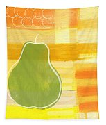 Green Pear- Art By Linda Woods Tapestry