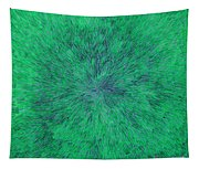 Green Radation With Violet  Tapestry