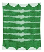 Green Shibori 3- Art By Linda Woods Tapestry