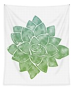 Green Succulent 1- Art By Linda Woods Tapestry
